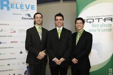 Photo : Emmanuel Laramée, Vincent Morisette et Francis Ladurantaye, étudiants en Gestion de commerces